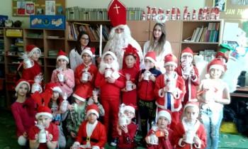 Wizyta świętego Mikołaja Szkoła Podstawowa Nr 3